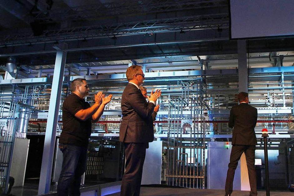 Impressionen von der Inbetriebnahme der neuen Galvanik im Lahrer Grohe-Werk (Foto: Heidi Foessel)