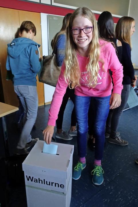 <BZ-FotoAnlauf>Jugendwahl:</BZ-FotoAnlauf> Die Ursulinen haben schon gewählt.     Foto: schule
