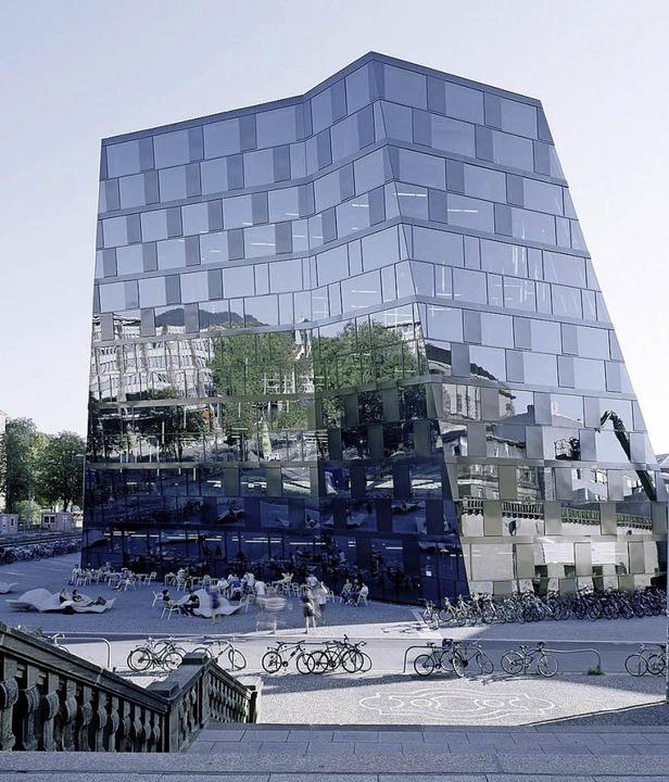 Unibibliothek Freiburg (Degelo Architekten)    Foto: Barbara Bühle