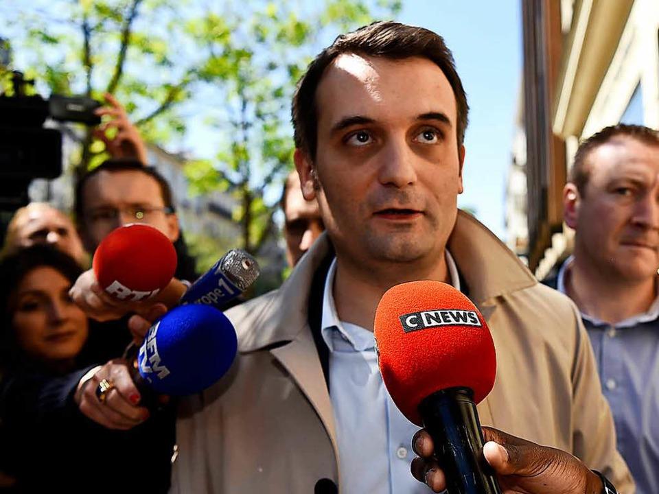 Bei der Parteirechten verhasst: Floria...t beantwortet Fragen von Journalisten.  | Foto: AFP