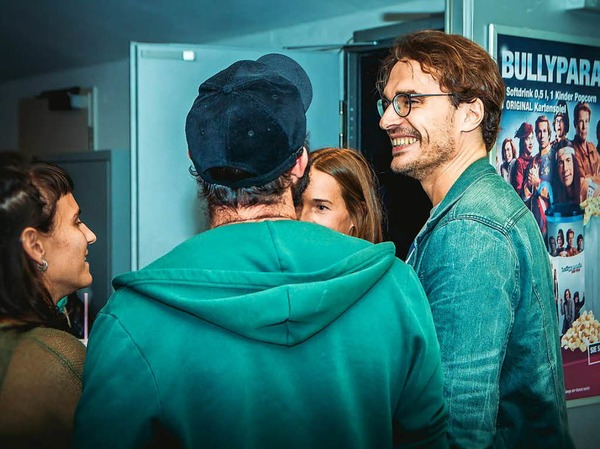 BZ-Redakteur Florian Kech führte das Interview mit den beiden Weltreisenden
