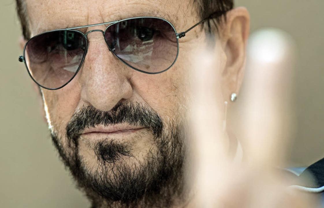 Friedensbewegter Schlagzeuger und Ex-Beatle: Ringo Starr     Foto: dpa