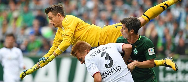 Glück in der zweiten Halbzeit: SC Freiburg spielt auch in Bremen 0:0