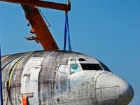 """Entführtes Flugzeug """"Landshut"""" ist zurück in Deutschland"""