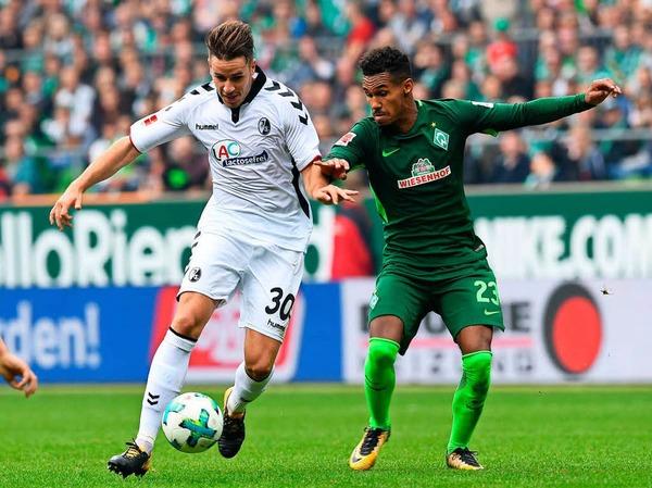 Kein durchkommen für beide Mannschaften: Bremen fehlte die Präzision, Freiburg in der zweiten Hälfte die Ideen.