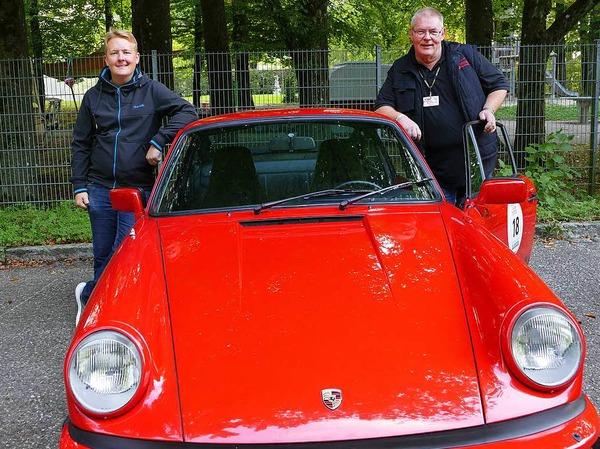 Wenn der Vater mit dem Sohne - Wolfgang Müller und Sohn Max aus Wehr gingen mit ihrem Porsche 911 SC 3,2  an den Start.