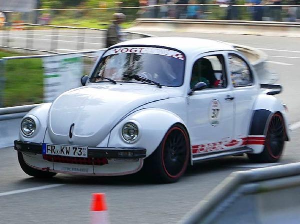 Der VW-Käfer, Symbol des deutschen Wirtschaftswunders, gab es auch in der sportlichen Variante: Karl Wiesler aus Staufen.