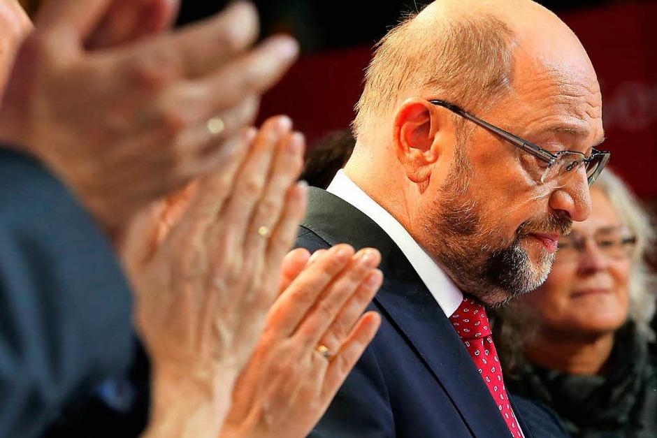 Nachdenklich: SPD-Kanzlerkandidat Martin Schulz. Nach ihrer Schlappe hat die SPD angekündigt, nun in die Opposition zu gehen. (Foto: dpa)