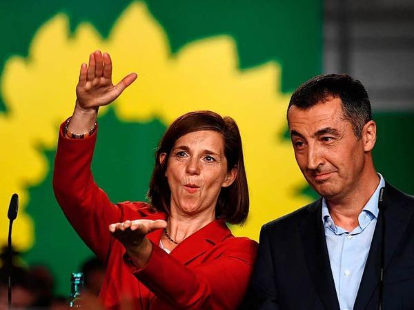 Die Spitzenkandidaten von Bündnis 90/Die Grünen: Cem Özdemir (r.) und Katrin Göring-Eckardt.
