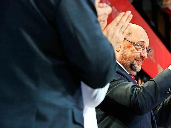 Martin Schulz versucht, Zuversicht zu vermitteln.