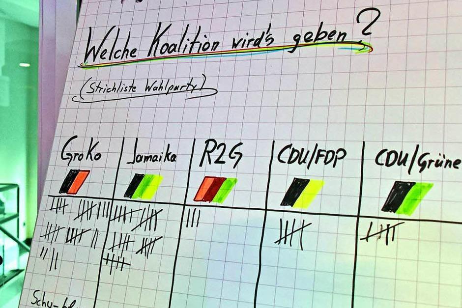 Bundestagswahl 2017: Spannung und Aufregung auf den Wahlpartys von CDU, SPD, FDP, Die Linke, Die Grünen und AfD. (Foto: Michael Bamberger)
