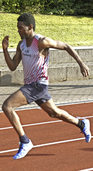 Earvin Mbo sprintet der Konkurrenz davon