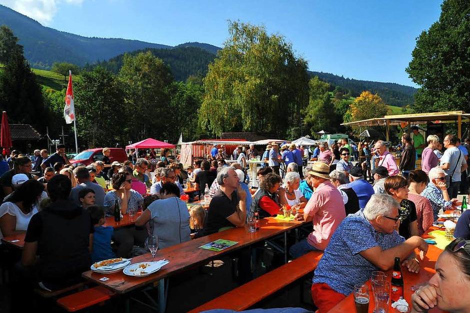 Ein buntes Bild bot sich den vielen Zuschauern beim Almabtrieb am Sonntagvormittag. (Foto: Horst Dauenhauer)