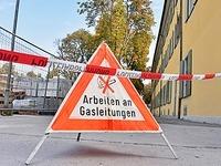 Gasleitung am Rotteckring bei Bauarbeiten beschädigt