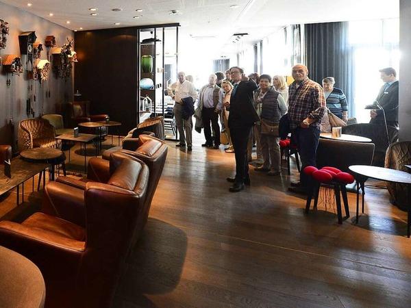 Impressionen vom BZ-hautnah-Rundgang durch das neue Motel One am Siegesdenkmal