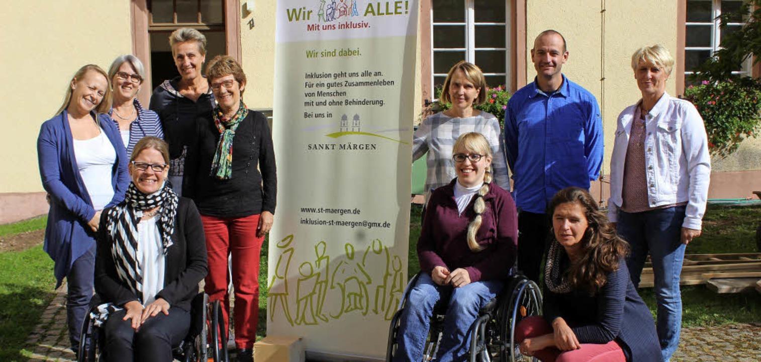 Die Kommunalen Inklusionsvermittler mi...eauftragen Anke Dallmann (vorne links)  | Foto: Krieger