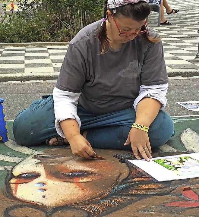 Straßenmaler wie auf diesem Bild sind am 8. Oktober willkommen.     Foto: WGW