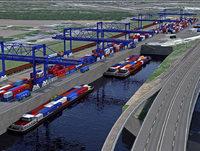 Durchbruch fürs neue Hafenbecken im Rheinhafen Kleinhüningen