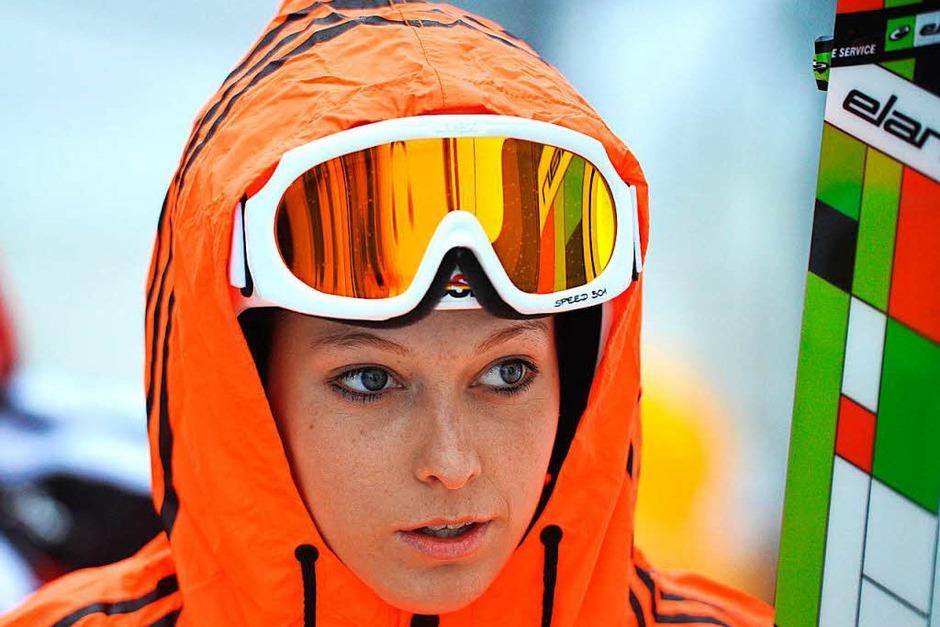 """""""Ski-Haserl zeigen, was unter den Anoraks stecken"""", schrieb ein Klatschblatt, nachdem sich Skispringerin Melanie Faißt 2013 für den Playboy ausgezogen hatte. (Foto: dpa)"""