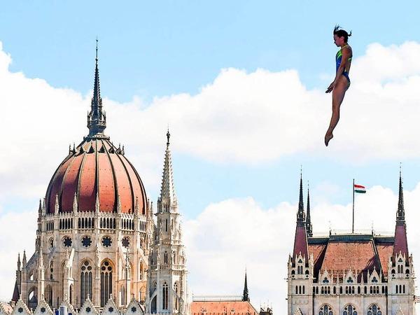 Anna Bader reifte zwei Jahre lang an der Grundschule im badischen Teningen heran - und räumte dann sämtliche Erfolge im Klippenspringen ab.