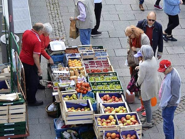 Sehr populär: der sonntägliche Bauernmarkt