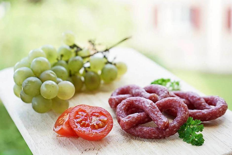 Platz 3 in der Kategorie Food: Weintrauben vom Tuniberg & Salami aus Umkirch (Freiburg Umland) von Stefan Voigt (Foto: Stefan Voigt)
