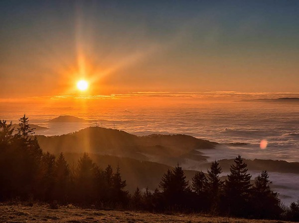 Kategorie Land: Sonnenuntergang im Schwarzwald (Waldkirch)