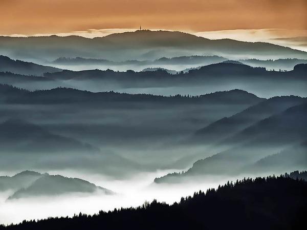 Platz 3 in der Kategorie Land: Blick vom Kandel nach Südwesten (Kandel) von Christian Bartoschek