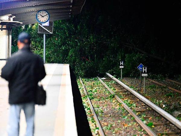 Vielerorts ist der Zugverkehr komplett eingestellt.