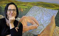 Gemäldeausstellung der Malerin Elena Romanzin