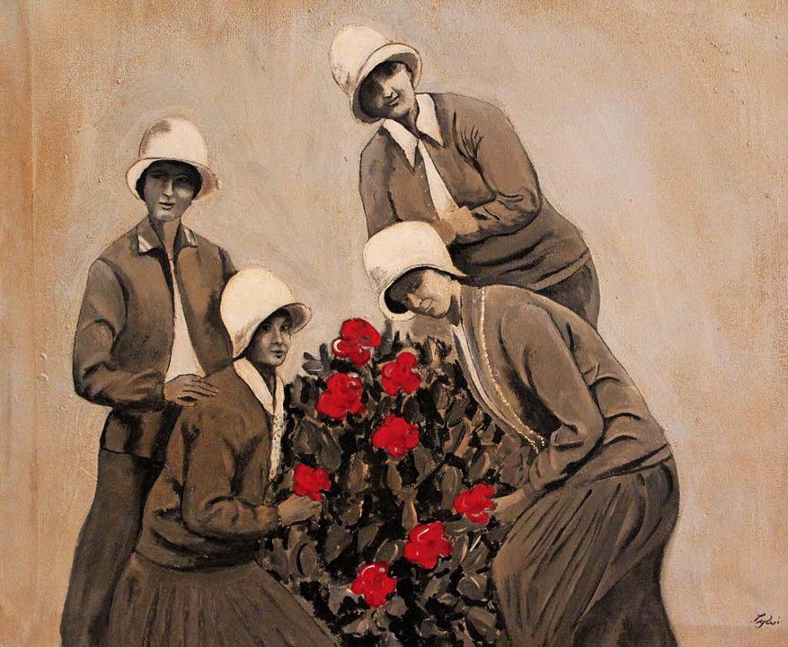 Auch der Kunstverein Löffingen war mit...211; hier  ein Werk von  Sylvia Benz.   | Foto: Gert Brichta
