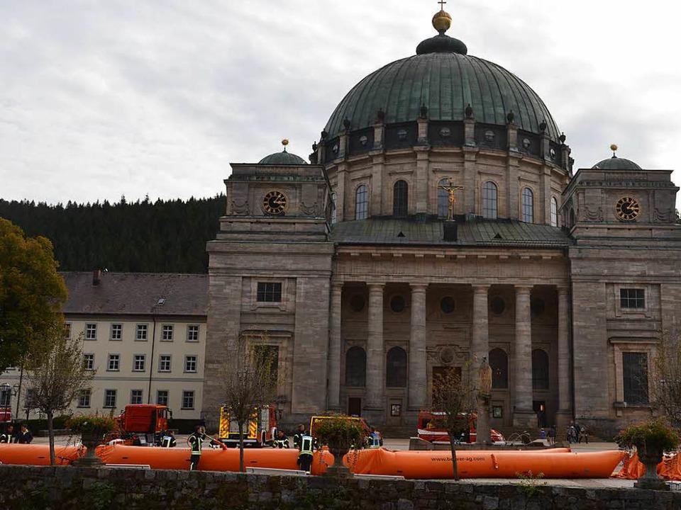 300 Meter lang ist das mobile Dammsystem.  | Foto: Christiane Sahli