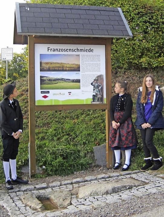 Junge Mitglieder im Schwarzwaldverein ...l an der Franzosenschmiede in Kappel.   | Foto: Doris Vogel