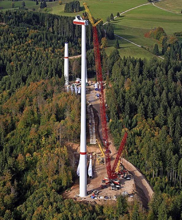 Baustelle des Windparks Hasel  | Foto: euroluftbild.de/Erich Meyer