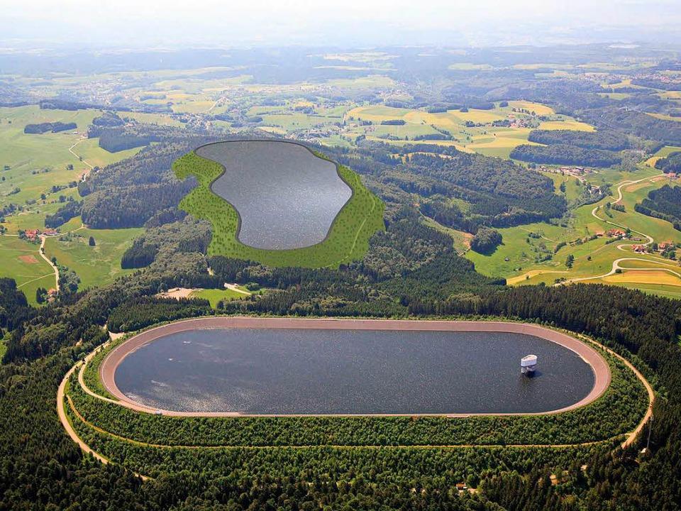 So hätte das Pumpspeicherwerk nach Ans...Eine Vision, die nicht umgesetzt wird.    Foto: Schluchseewerk AG