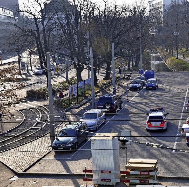 Das Areal an Heuwaage und Zoo mit der Tramwendeschleife (links)   | Foto: Daniel Gramespacher