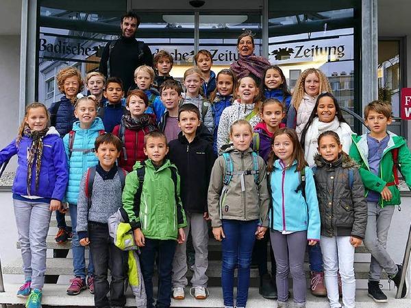Klasse 4c der Emil-Thoma Grundschule in Freiburg
