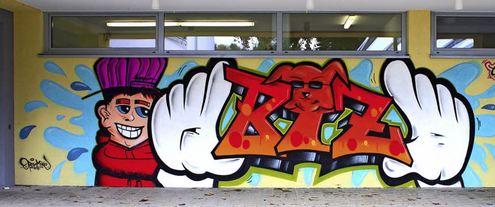 Cooler Eingangsbereich zum BiZ mit neuem Graffiti  | Foto: Werbeagentur Kreativgarten