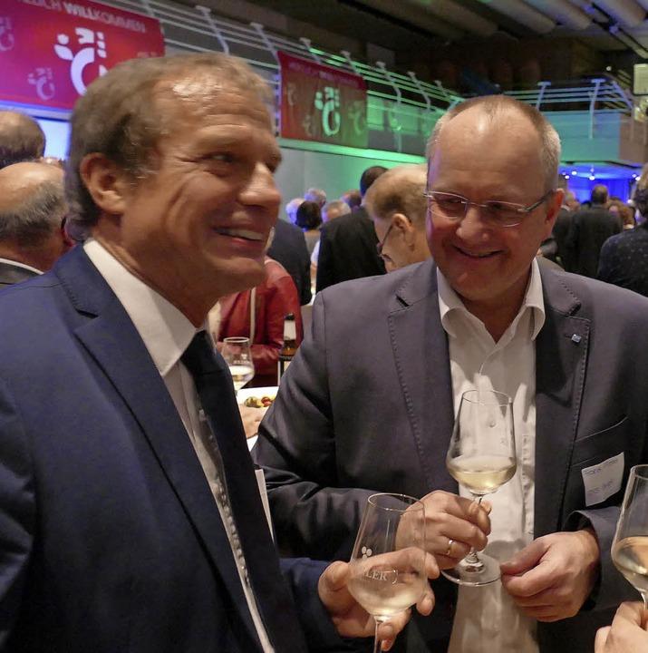 OB Klaus Eberhard und Frank Pfister  | Foto: Ralf H. Dorweiler