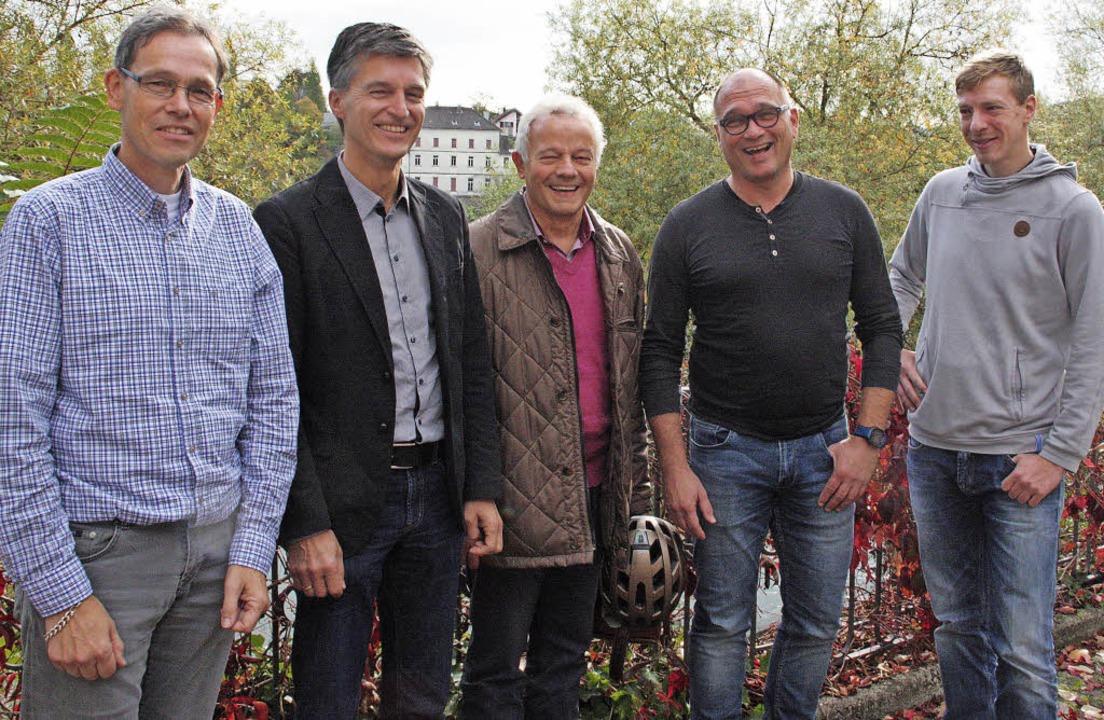 Eine Kooperation für den Klimaschutz: ...und Maximilian Rüttinger (von links).     Foto: Jörn Kerckhoff