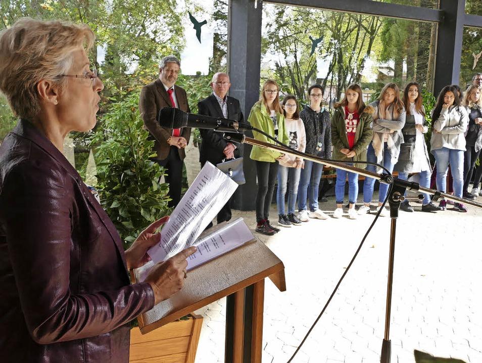 Isabelle Martin, Schulleiterin des fra...ewachsene Freundschaft weiterzutragen.  | Foto: Stefan Limberger-Andris