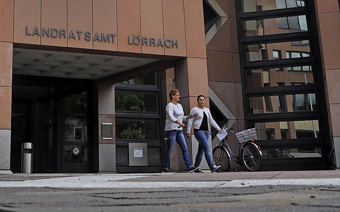 Die Entscheidung über Bauanträge im La...t das Landratsamt Lörrach zu treffen.   | Foto: Archivfoto: Daniel Gramespacher