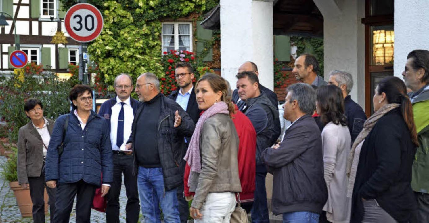 Das Gespräch von OB Schreiner (Zweite ...i Wunsch hatte interessierte Zuhörer.     Foto: Harald Rudolf