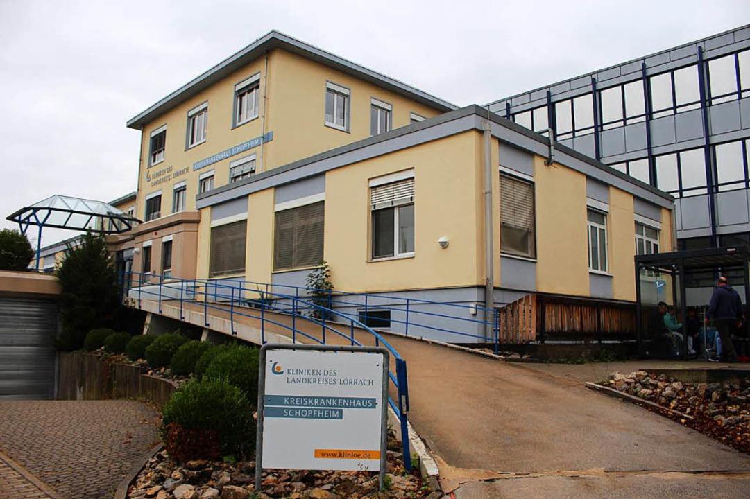 Das Schopfheimer Krankenhaus wird noch...hen bleiben, schätzt der Förderverein.  | Foto: Anja Bertsch