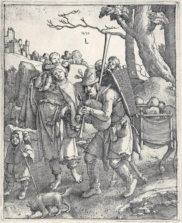 Eulenspiegel, der Gaukler: Radierung von Lucas van Leyden (1520)  | Foto: -