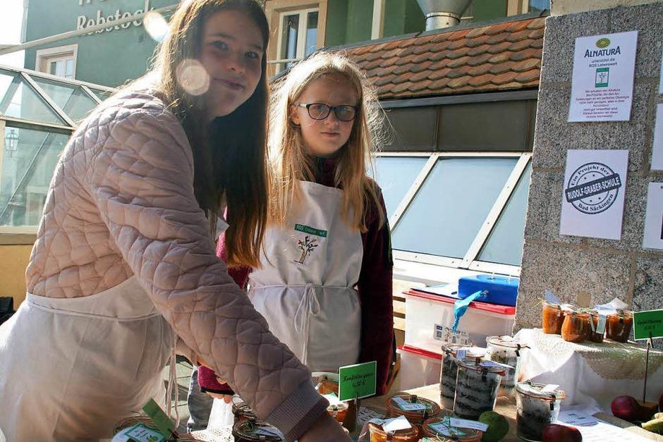 Impressionen vom Apfelmarkt in Laufenburg und der hela in der Schweizer Schwesterstadt. (Foto: Charlotte Fröse)