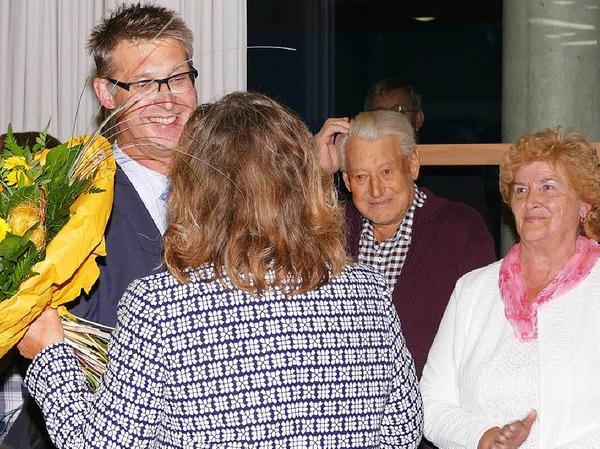 Viele Glückwünsche durfte der neu gewählte Bürgermeister von Stühlingen, Joachim Burger, entgegen nehmen.