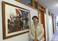 Im Landratsamt Freiburg werden Werke aus der Kunstsammlung des Landkreises gezeigt