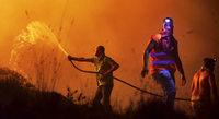 Feuer wüten auf der iberischen Halbinsel