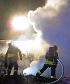 Abfall brennt in Nimburg